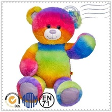 Factory supply custom Hot sale plush toy rainbow teddy bear toy