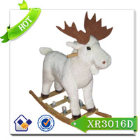 Hot sale plush toy animal/kid riding horse toy/baby rocking chairing with animal shape