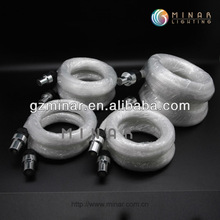 Plastic end light fiber optic cable for lighting