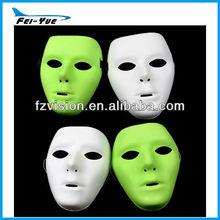 High Quality PVC Blank white mask Jabbawockeez Mask