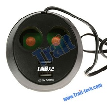 2 USB Cup Holder Power for iPhone 4S, MP3, PDA, GPS emergency power supply for iphone