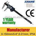 "5110 # shahe digital impermeable vernier caliper IP54 alta calidad electrónica 6 "" / 150 mm digital vernier caliper"