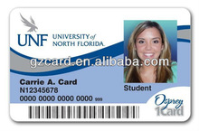 plastic card with id