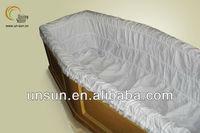 hot sell cotton casket interiors fabrics