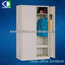 2 double door steel cheap wardrobe, portable metal wardrobe