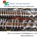 Doble diseño de tornillo de tungsteno con revestimiento de cónico barriles para de extrusión de sistemas