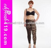 Plus size wholesale leopard pattern sublimated leggings