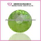round checkerboard cut apple green onyx cz gemstone nepal