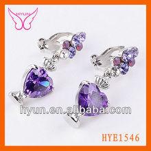 Fashion Earring Latest Cute Girls Earrings,Heart Zircon Shaped Cute Earring Set,Desiger Earrings For Cute Girls