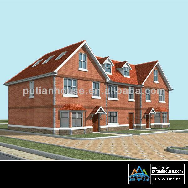 Two floors row residential light steel villa