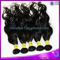 100% del pelo humano 5A grado Natural negro barato sin procesar de la virgen brasileña del pelo de Remy