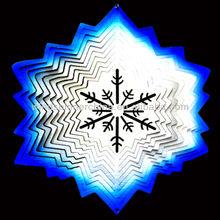 metal wind spinner--Snow Flake.
