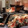 Microfiber disperse bedding set with floral print design