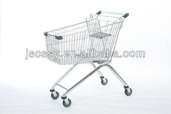 125L Europe Style Supermarket Shopping Cart With Baby Seat