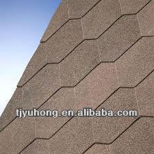 Hexagonal bitumen shingles