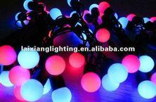 outdoor christmas projection lighting, color changing string ball bulbs LED christmas light