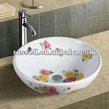 Painted bathroom sink toilet basin design A8003-4