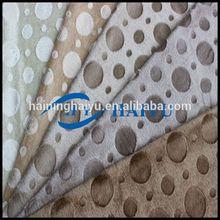 anti-slip plastic dot on 100% Polyester for for muslim prayer mat /brush/embossed