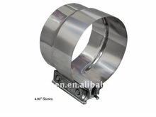 """4.00"""" 4"""" Stainless Steel Lap Joint Exhaust Clamp"""