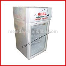 52L Energy Drink Fridge, Glass Door Display Refrigerator