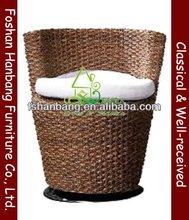 Water Hyacinth swivel sofa chair for Coffee Shop