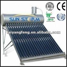 sunstorm well selled Unpressurized solar water heater in 2012