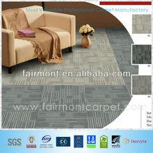 New Designed Carpet Tiles 50x50, Nylon/Polypropylene Carpet Tiles, Rubber Backing Commercial Carpet Tiles