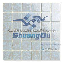 100% porcelain factory cheap mosiac pattern tile for pools,kitchen,bathroom 23x23mm,48x48mm