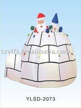 Air blower / Air power / christmas Inflatable decoration snowman in cottage