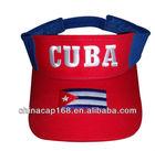 costoms design embroidered cotton twill sun visor cap