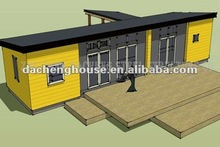 Yellow Panel Prefab Movable Container Living House Cost