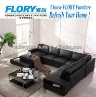 Luxury corner leather sofas F2028