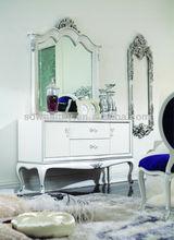 Alibaba expresar el hogar mueblesdeldormitorio/dormitorio muebles de la sala/sólidos muebles de madera/espejo tocador hy-a3057