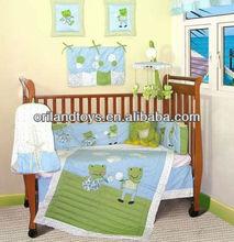 baby crib bedding set funny frog families