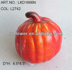 2014 Artificial Fake Fruits Fall Pumpkin 4.5inch Artificial Polyfoam Pumpkin
