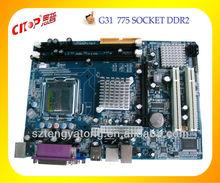 Intel motherboard G31 motherboard dual core socket 775 ddr3 excellent motherboard