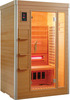 Hemlock wood 3 person infrared sauna room with carbon heater (KD-5003S)