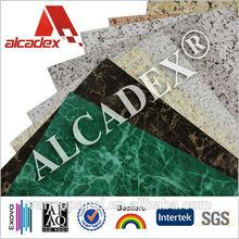 aluminium composite panel pvdf coating, fireproof wall cladding material, marble finish