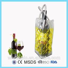 Reusable plastic gel wine bottle cooler/beer bottle cooler bag