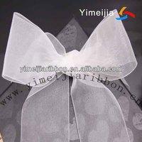 top quality hand make organza ribbon bow