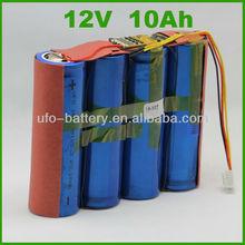 12V 10Ah 4S1P LifePo4 38120 Battery Pack