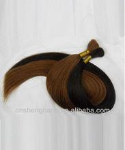 cheap 100%human hair bulk indian hair different sizes different colors 100g\pcs