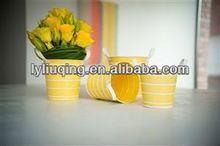 garden zinc planter yellow color