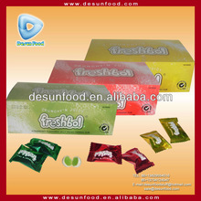 Jelly center filled chewing gum