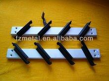 Window frame Aluminium Bronze color Plastic clip, steel handle manual operation