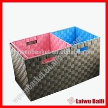 100% handmade woven solid plastic basket