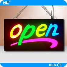 Led illuminated signs/rechargeable battery powered 12V mini led display/moving message led sign