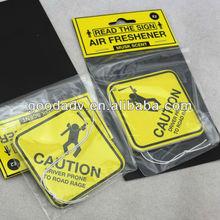 Free logo promotional car air freshener with eco-friendly fragrance