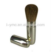 metal retractable makeup powder/foundation/blush brush