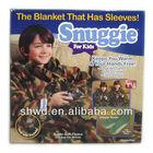 Children TV blanket with sleeve snuggie blanket